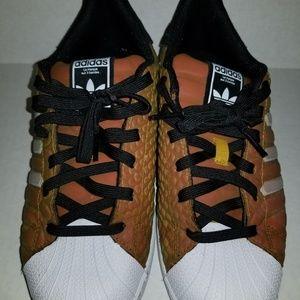 Adidas originals Superstar Xeno Orange size 6.5